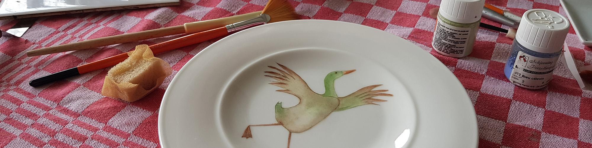 pauline handbeschilderd porselein